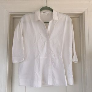 COS white button down blouse